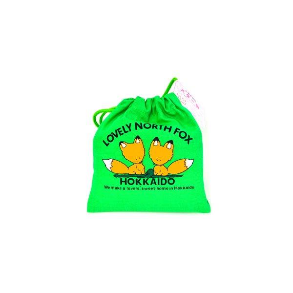 画像1: キツネ巾着 バター飴 (緑) (1)