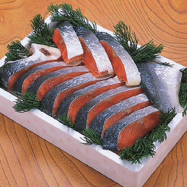 画像1: 紅鮭切身(甘口) 半身12切位 (1)
